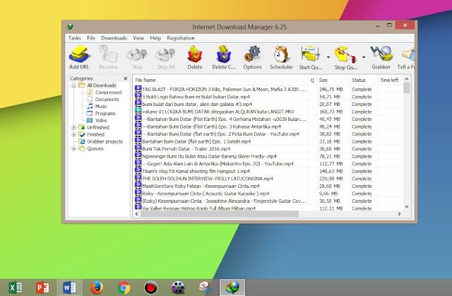 Buka terlebih dahulu aplikasi IDM yang ada di PC Laptop kalian