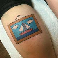 tatuaje cuadro de los simpson