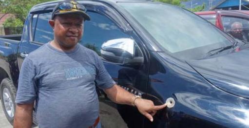 Oknum Polisi Tembak Mobil Kadis Kehutanankarena Mainan Anaknya Tergilas