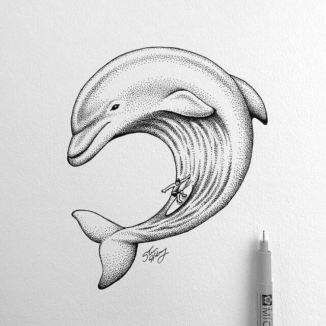 04-Surfing-dolphin-Steve-Habersang-www-designstack-co