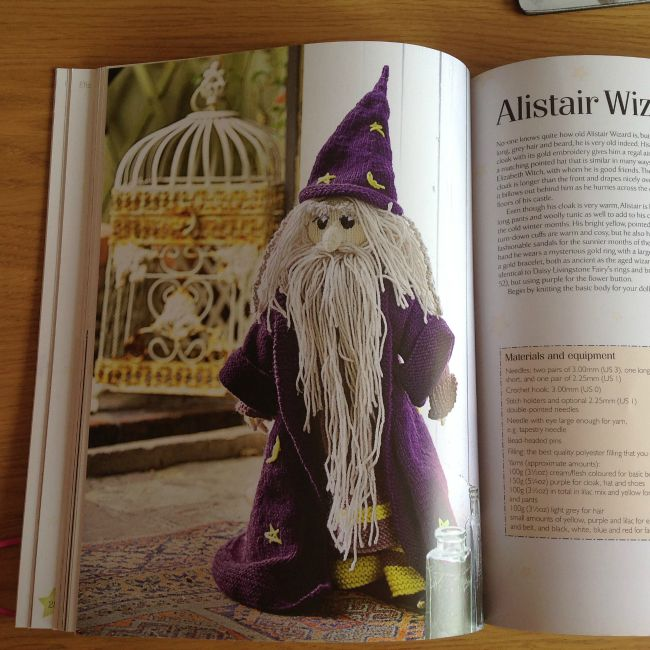 picture of knitted wizard doll