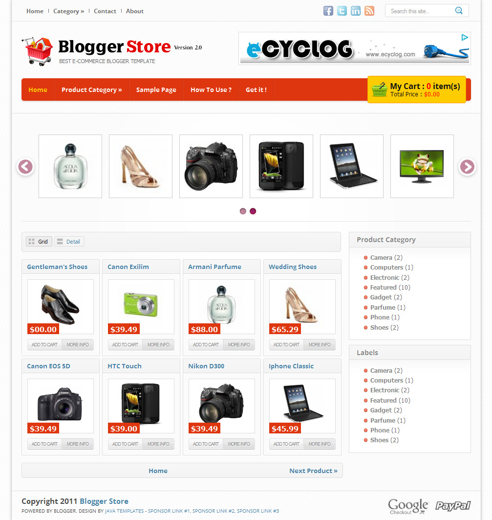 Download template blogger toko online gratis wetiga for Free html blog templates code