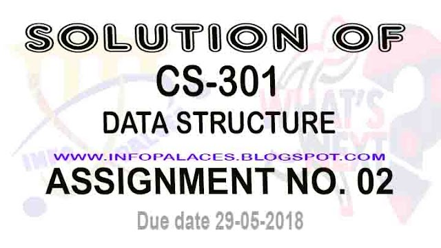 CS 301 Assignment 2 Solution Spring 2018 Data Structure