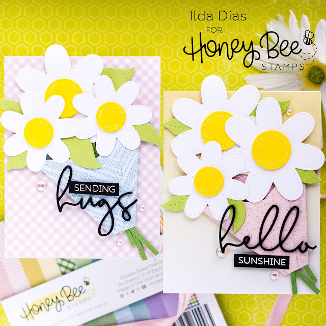 Spring Bouquet,  Friendship Cards, Honey Bee Stamps, Daisies, Card Making, Stamping, Die Cutting, handmade card, ilovedoingallthingscrafty, Stamps, how to, STITCHED FLOWERS, HONEY CUTS