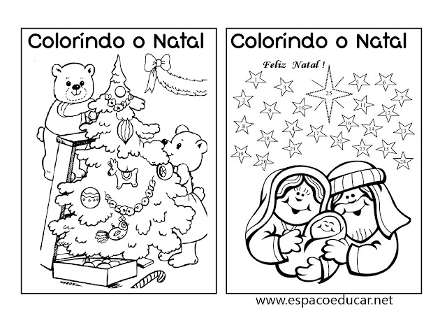 Livro De Natal Para Colorir, Pintar, Imprimir Ou Montar