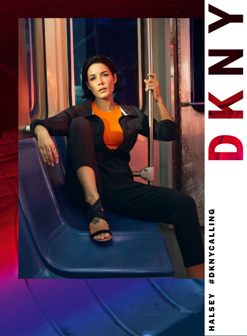 Halsey rides the New York City subway for DKNY's new campaign
