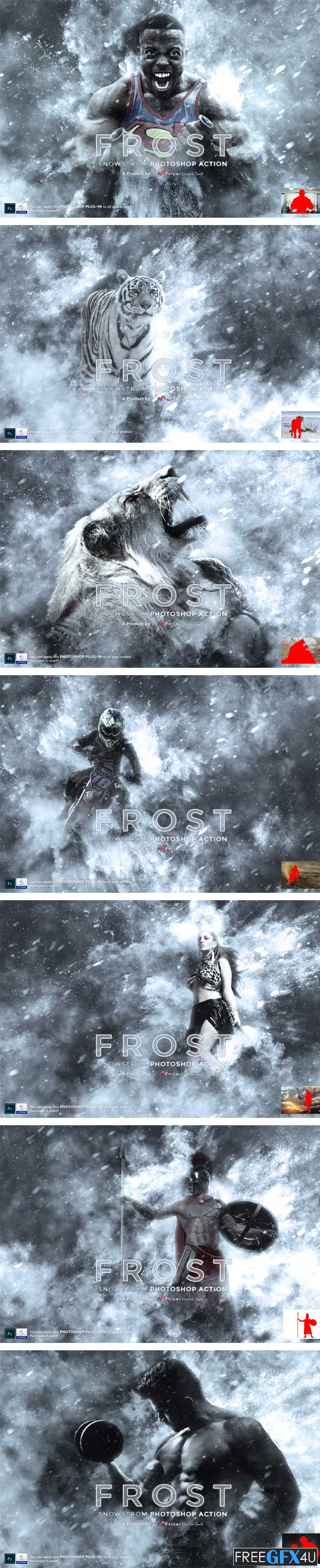 Frost Snowstorm Photoshop Action