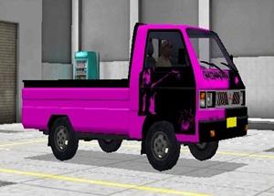 Livery Pickup Bussid Batman Ungu