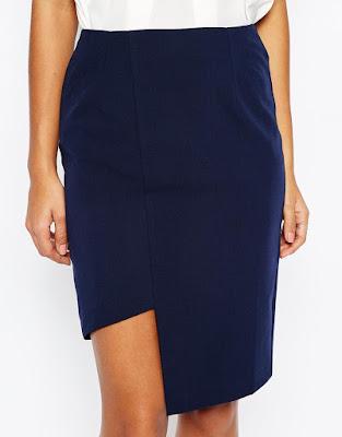 Clean asymmetric pencil skirt, $35.59 from ASOS
