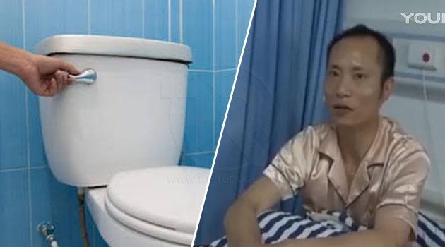 Lelaki cedera dilibas dengan pisau dapur oleh bapa tirinya kerana tak flush toilet dengan betul