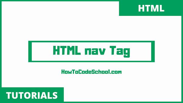 HTML nav Tag