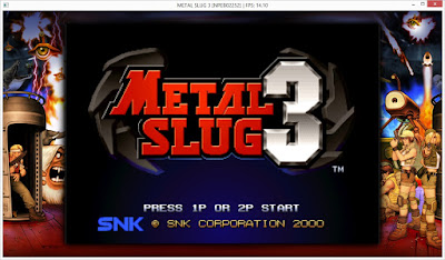 Emulação do Metal Slug 3 no emulador RPCS3 do PS3