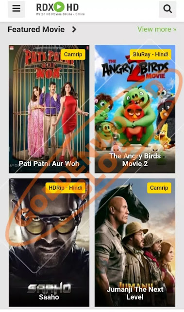 RdxHD Website 2020 - Bollywood, Hollywood, Punjabi All New Movies Download!