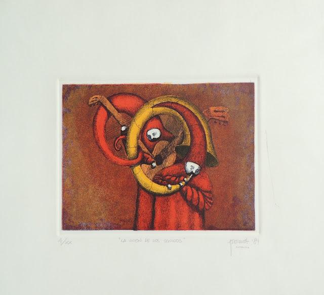 Fernando Pereznieto litografía unión sonidos