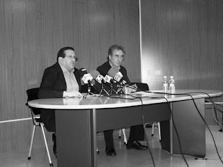 Antonio Caba y Román Orozco en los primeros pasos de la Escuela de Ciudadanos