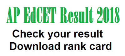 AP EdCET Result 2018 – Check your result & download rank card here
