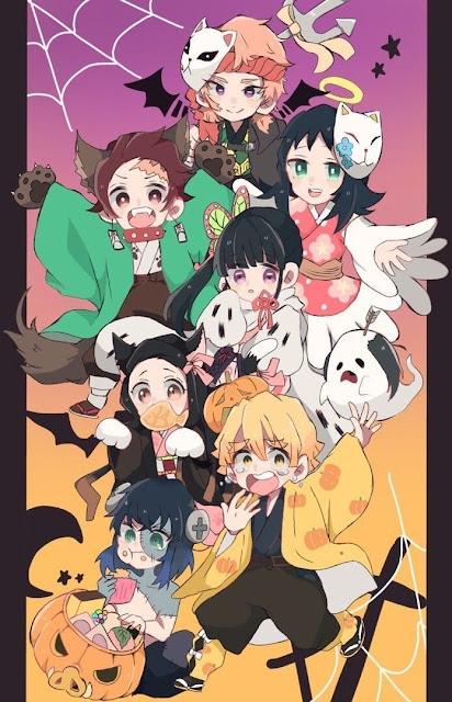 Bộ ảnh Kimetsu no Yaiba phong cách halloween đẹp nhất năm 2020