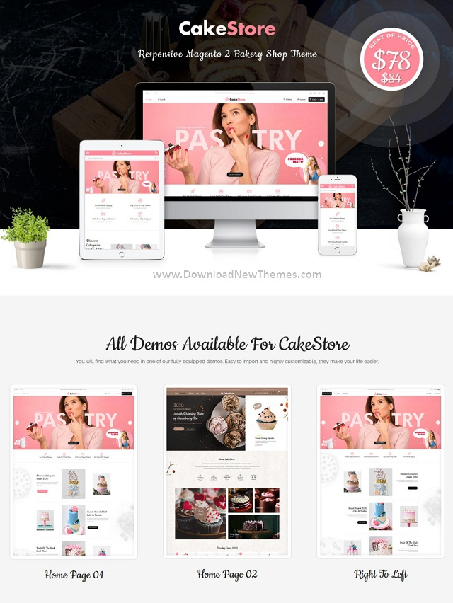Best Bakery and Cake Shop Magento Theme