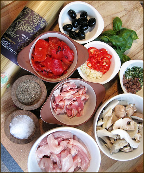 Chicken Cacciatore ingredients