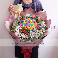 bunga valentine, rainbow rose, rose equador, buket rose import, toko bunga grogol, florist angke