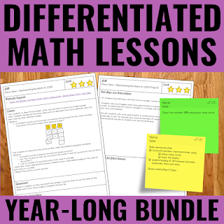 Cover of Differentiated Guided Math Lessons bundle