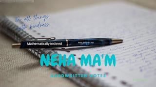 neha mam handwritten notes pdf