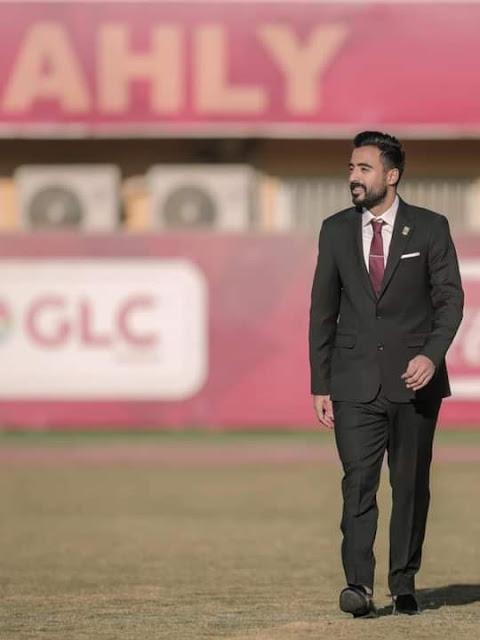 محمود وحيد فى جلسة تصوير النادى الأهلى لكأس العالم للأندية 2021