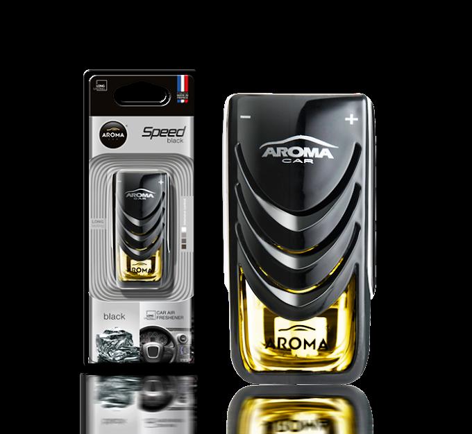 Nước hoa Kẹp cửa gió ô tô Aroma Car Speed 8ml - Black