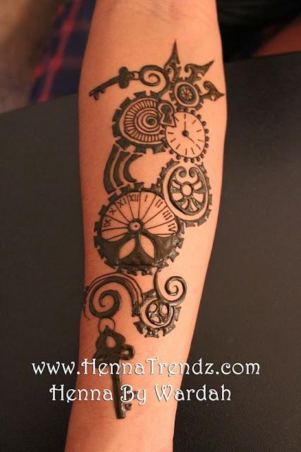 amazing henna steampunk tattoos