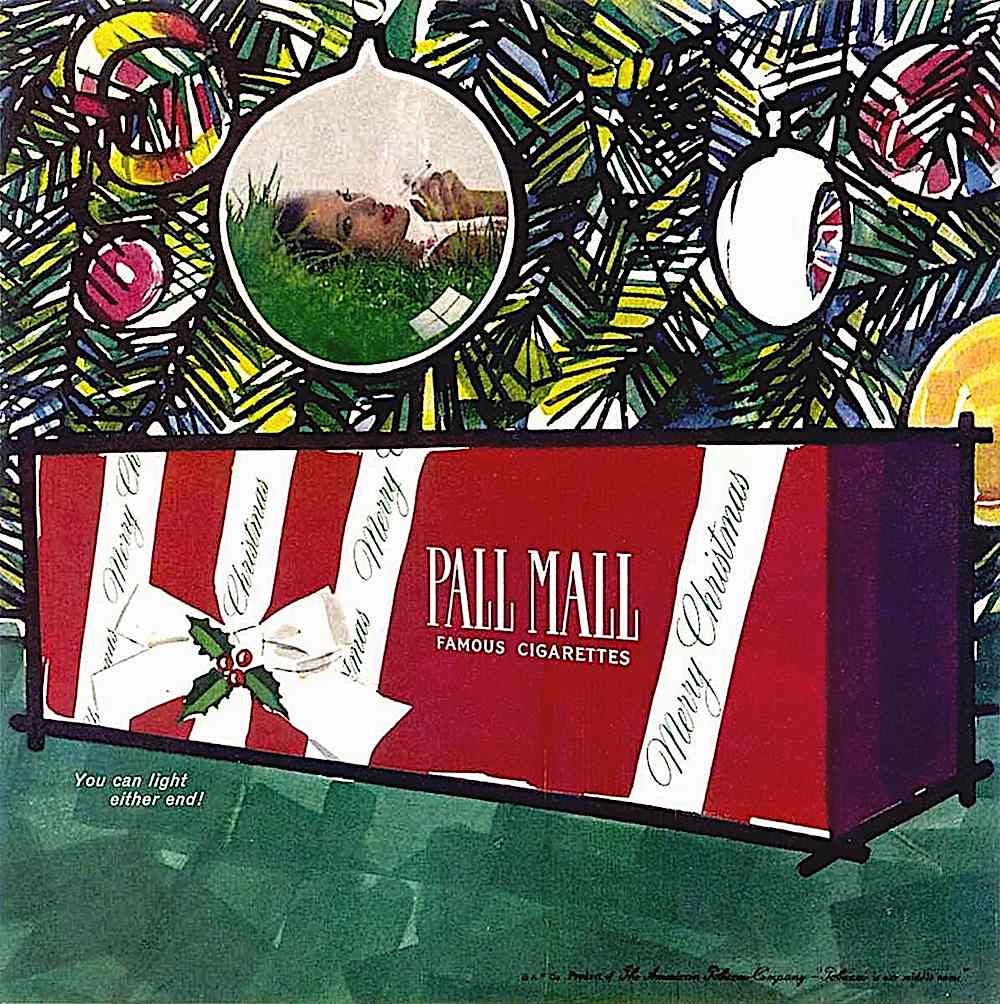 1960s Pall mall cigarettes, Christmas gift