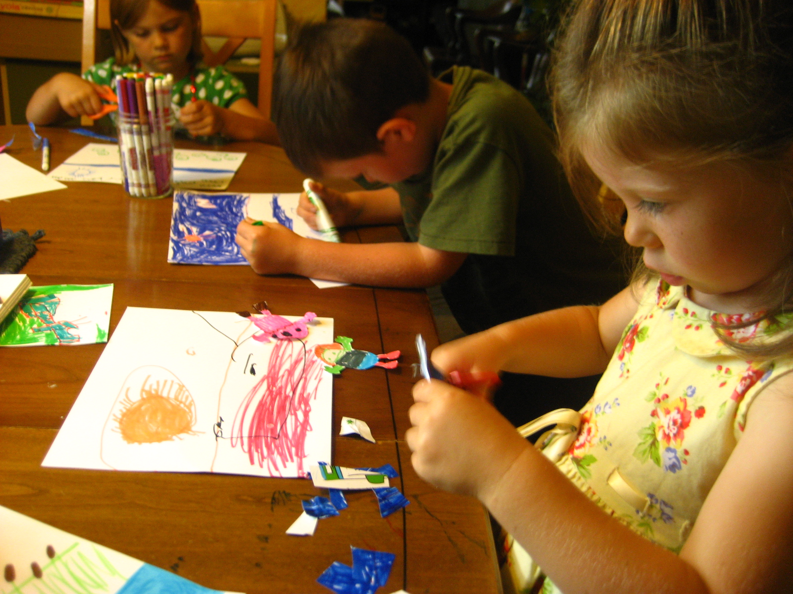 Kira S Crafty Life Blog Art Lesson With Little Kids Collage