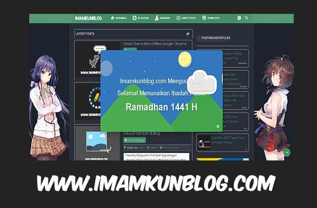 Cara Membuat Pesan Popup Selamat Ramadhan Melayang di Blog