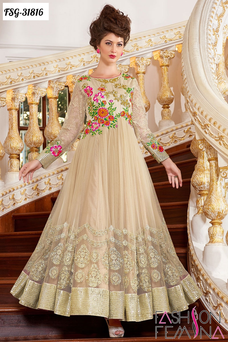 d8ba71ca8 fashion femina  Latest Wedding and New Year Party Wear Anarkali ...