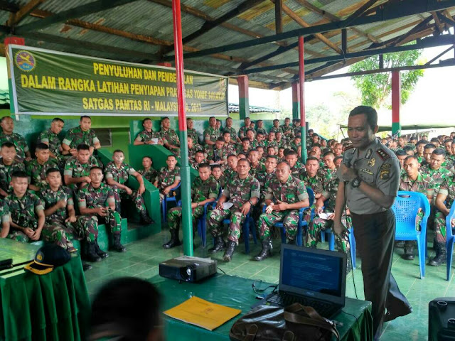 Kapolres Muara Enim Beri Penyuluhan dan Pembekalan kepada Pratugas Yonif 141/II Sriwijaya