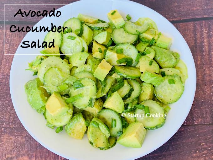 Avocado Cucumber Salad Recipe | Startup Cooking