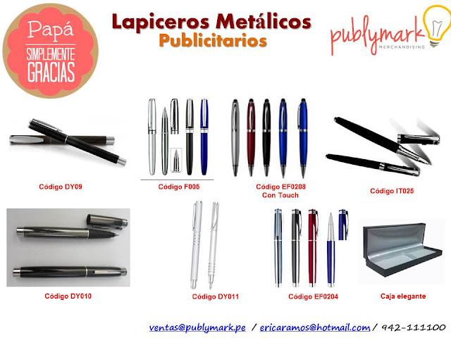 Lapiceros Metálicos