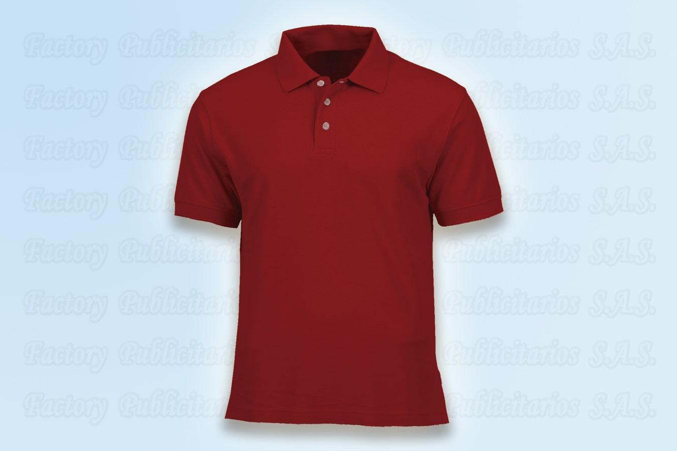 Camisetas polo rojas publicitarias