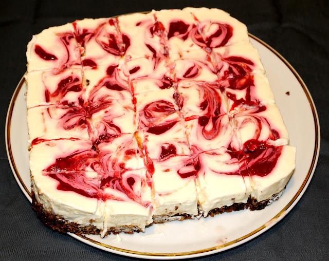 Barrette di cheesecake  ai lamponi