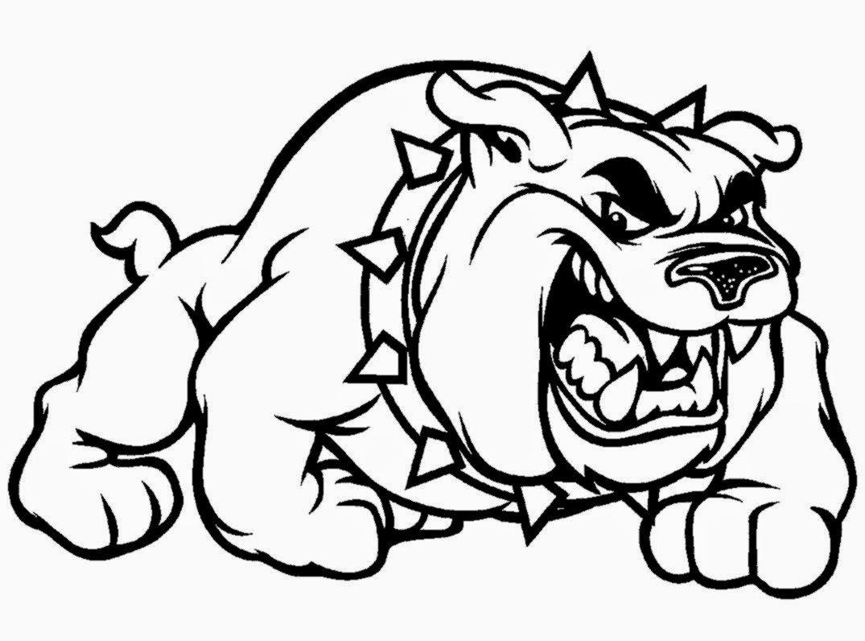 bulldog coloring pages to print | Bulldog Coloring Pages