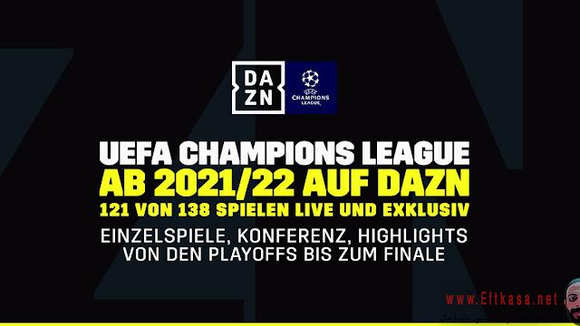DAZN تفوز بحقوق بث دورى أبطال أوروبا لثلاثة مواسم, قناة DAZN على قمر استرا 19E