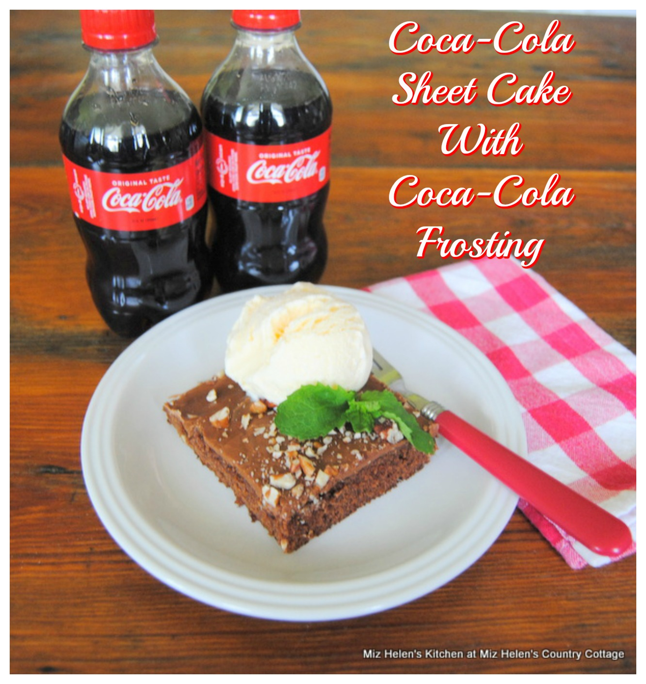 Coca-Cola Sheet Cake With Coca Cola Frosting