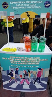 Gerakan Jalan Hijau dari Badan Pengelola Transportasi JaBoDeTaBek dari Kementerian Perhubungan