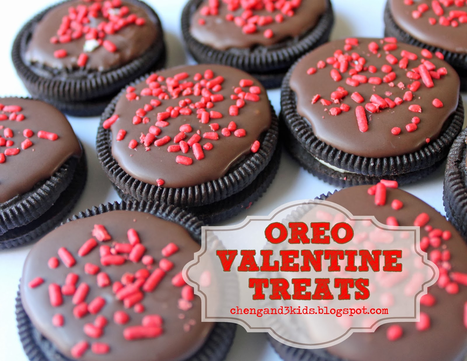 Oreo Valentine Treats by chengand3kids.blogspot.com