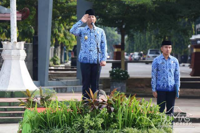 Plt Bupati Trenggalek Pimpin Upacara Hari Otonomi Daerah XXII Kabupaten Trenggalek