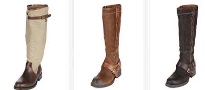 Botas de piel de color marrón