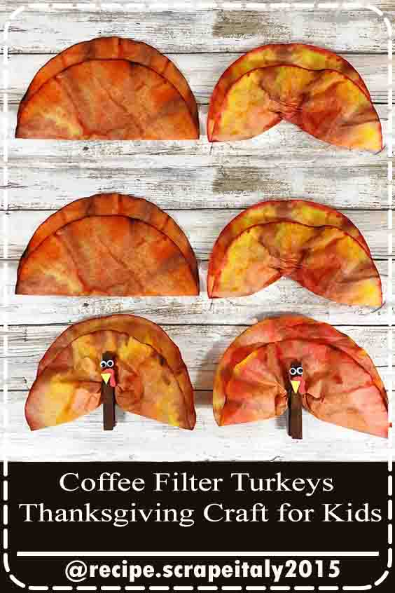Coffee Filter Turkeys Thanksgiving Craft for Kids
