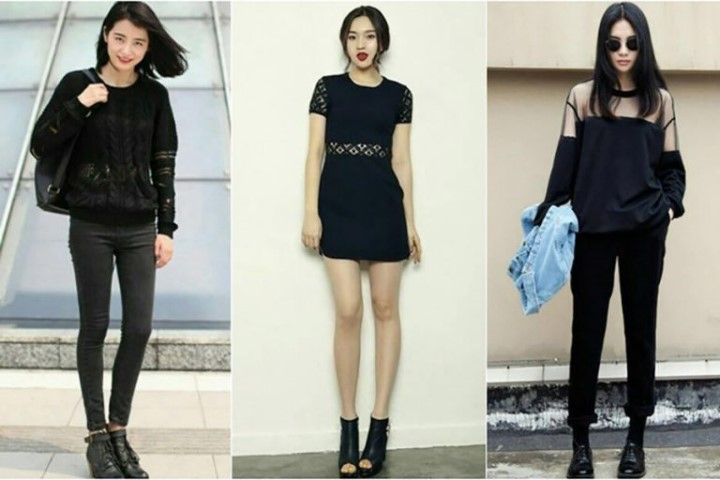 Phối đồ nữ cá tính với váy 2 dây maxi đẹp chân váy xòe ngắn và áo khoác nữ không cổ