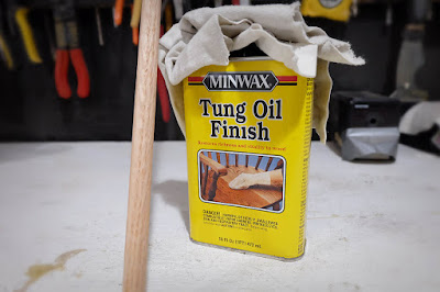 sealing seal oil tung finish dowel pegboard