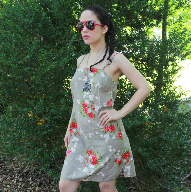 Cherry Blossom Print Dress
