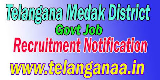 Telangana Medak District Govt Job Recruitment Notification 2016 Online Apply